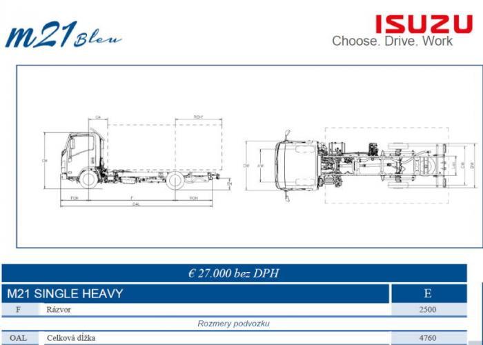 Katalóg Isuzu M21 Single Heavy